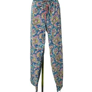 Calypso St Barth Drawstring Beaded Tassel Pants